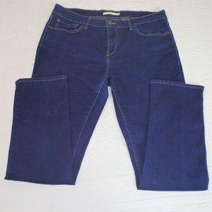 Levis 712 Slim Jeans  Mid Rise Dark Wash Waist 33